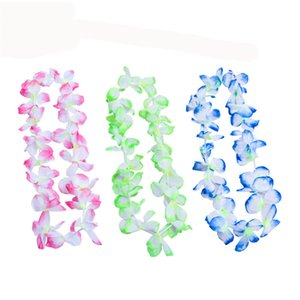 ingrosso hawaii lei-The New Party Supplies Seta Flower Hawaiian Lei Garland Hawaii Corona Cheerleading Products Collana Hawaii Yye3427