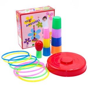 Wholesale play kids game resale online - Kids Outdoor Toys Garden Games Fun Throwing Rings Set Parent child Interactive Family Party Educational Toy For Children