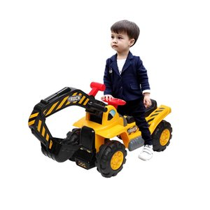 Wholesale toys ride ons for sale - Group buy US Warehouse Children s Ridable Bulldozer Toy Car without Power Ride Car Two Plastic Simulation Stones and A Hat Best Gift for Child