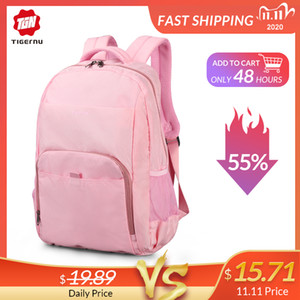 Wholesale teenagers backpacks for sale - Group buy Tigernu Spring School Backpack Bag for Teenager Girl Mini Women College Backpack Pink Blue Mochila Feminina