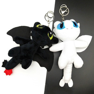 Wholesale plush frame resale online - New Small Flying Dragon Key Chain Schoolbag Pendant Net Red Ins Plush Doll Toy Gift KR2A