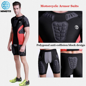 Wholesale moto jackets resale online - Motocross Armor Tops Shorts Men Sleeve Moto Motorcycle Protective Armor Jacket T shirt Protective Gear Motocross Body Protection1