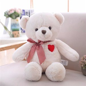 Wholesale teddy bears for baby girls resale online - 35 cm Cartoon Teddy Bear Plush Toys with Heart Soft Stuffed Animal Toys for Children Kids Girls Birthday Gift Baby Brinquedos Y1215