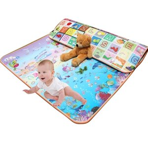 Wholesale padded play mats for babies resale online - 0 cm Thick Baby Crawling Play Mat Educational Alphabet Game Rug For Children Puzzle Activity Gym Carpet Eva Foam Kids Toys Pad Q1121