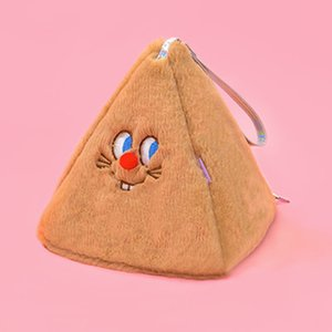 Wholesale cute pink makeup bags resale online - New Women Cute Makeup Handbags Mini Fur Day Clutches Coin Phone Card Organizer Case Cartoon lovely Girls Bag Storage Pouch Q1117