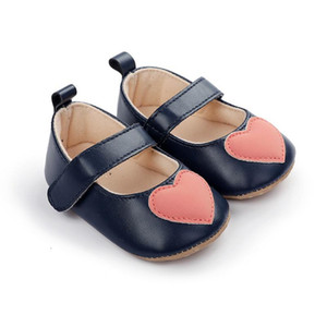 Wholesale newborn baby girl pink shoes for sale - Group buy Baby Shoes Pink Bow Loving Heart Princess Baby Girl Shoe PU Leather Mary Jane Newborn First Walkers Toddler Shoes For Girls