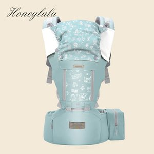 Wholesale carriers for babies for sale - Group buy Honeylulu Ergonomic Baby Carrier With Bag Sling For Newborns Four Seasons Baby Kangaroo Windproof Cap Ergoryukzak Hipseat LJ200915