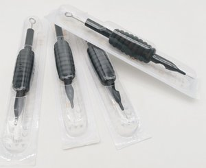20PCS Dropshipping Disposable Black Sterilized Tattoo Grips Tip Tube with Needles 3RL