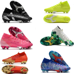 schuhe fußball großhandel-Mercurial Superfly VII Fußballschuhe Herren Fußballschuhe CR7 Elite SE FG CR7 Safari Rosa Panther Ronaldo Football Boots Cleats