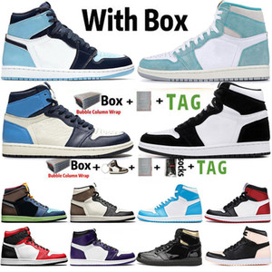Wholesale retro air trainer resale online - Air Jumpman s Mens Basketball Shoes Obsidian UNC Twist Travis Scotts Turbo Green Chicago Retro Sport Sneakers Trainers Size