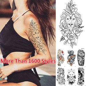 Newest! 1800 Styles half sleeve Tattoo Sticker Arm Temporary Tattoos Halloween Christmas Waterproof sticker accept Customized tattoo sticke