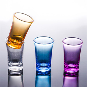 Wholesale game glasses resale online - Shot Glass Cup Acrylic Party KTV Wedding Game Cup For Whiskey Wine Vodka Bar Club beer wine glass ml Gift Bottle DDA2834