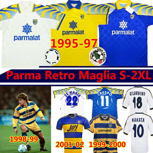 Parma Maglia Retro soccer jerseys Classic Vintage 1995 96 97 1998 99 2000 02 03 CRESPO ZOLA CANNAVARO AMOROSO BUFFON Men Kits football shirt