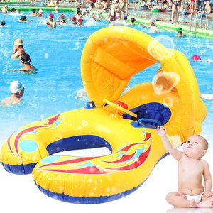 Wholesale inflatable baby swim float boat for sale - Group buy Inflatable Swimming Rings Child Kids Baby Safety Swimming Pool Children Water Play Games Seat Float Boat Summer Outdoor Beach J1210