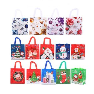 Wholesale laminated papers resale online - 22 cm Christmas Gifts Packaging Bag Non woven Laminated Three dimensional Tote Bag Xmas Gift Wrap Christmas Decorations XD24175