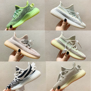 Wholesale purple zebra print resale online - Infant Kanye Zebra Kids Running Shoes Tail Light Cloud White Butter Boys Girls Children Sports Sneakers Fashion Lifestyle Trainers