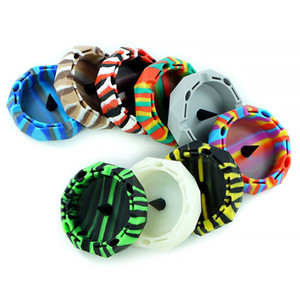Colorful Ashtray for Cigarettes Diamond cut circle shape silicone Ashtray - Sophisticated Design - for Indoor Outdoor Use