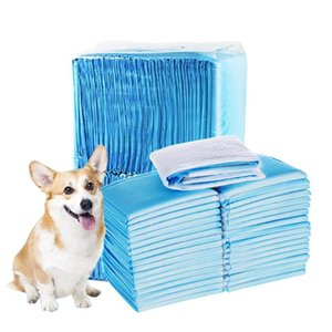 Wholesale dog training pads resale online - 100pcs Premium Dog Training Pee Pads Ultra Absorbent Diaper Cage Mat Unscented Disposable Underpads for Puppy Large Dog Supplies