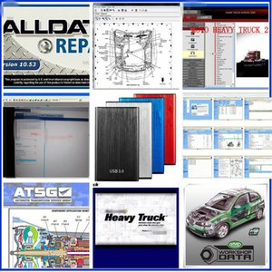 auto auto data software großhandel-ALLDATA Auto Reparatur Software Alle Daten V10 mit Chell Heavy Truck ATSG Vivid In1 TB HDD für alle Autos Trucks
