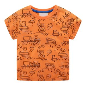 Wholesale baby girl shirt patterns for sale - Group buy ZWF717 Baby Boys Girls Shorts T Shirt For Cartoon High Quality Pattern Children Kids Tops Tees Clothing Meninos Roupa Q0202