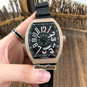 Wholesale i watches for sale - Group buy Best version VANGUARD V SC DT ICON I LCK Big Date Black Dial Japan Miyota Automatic Mens Watch Rose Gold Diamond Case Luxry Watches