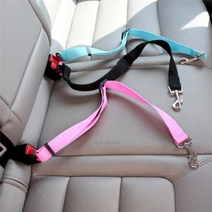 Wholesale travel accessories for sale - Group buy Clip Protector Dog Safety Car Travel Seat Belt Pet Accessories Adjustable Puppy Leash Collar Breakaway Solid Car HarnessB8EA
