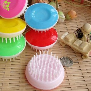 Wholesale claw comb resale online - Toothed gripping comb lazy shampoo comb circular scratching comb head massage brush shampoo claw massager