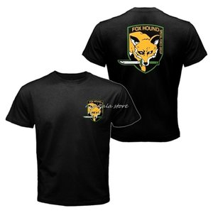 Wholesale metal gears solid resale online - Fox Hound T Shirt men The Metal Gear Solid Snake V Foxhound Special Force Group casual tee USA size S XL L0223