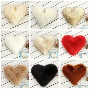 Wholesale washable cushion covers for sale - Group buy Pillow Case Heart Shaped Faux Wool Fur Cushion Covers Fluffy Soft Plush Throw Pillow Cover Pillowslip Sofa Car Decor Washable LXL1016