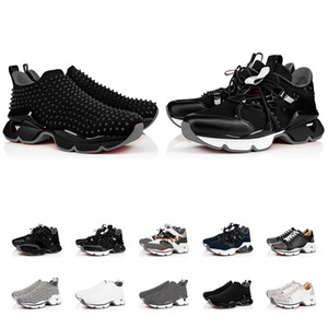 botas de niño al por mayor-LUXURYS DISEÑADORES ZAPATOS DESPUÉS RED BOTY Sneakers Men Trainers Mens Runner Boys Botines Black Flat Flat High Top Botines Tamaño US5 US13