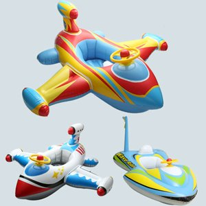 Wholesale inflatable baby swim float boat resale online - Baby Pool Floats Kids Safety Swimming Pool Seat Toys Children Swim Circle New Arrival Baby Inflatable Boat