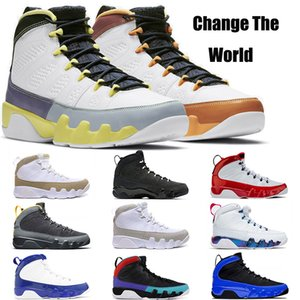 2021 Top Quality Jumpman 9 9s Mens Basketball Shoes Change The World Racer Blue Gym Red Cactus Flower Bred Men Trainers Outdoor Sneakers Sports Size 40-47