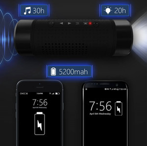 ingrosso accessori a led-Altoparlanti Bluetooth all aperto Altoparlanti in bicicletta wireless portatile mAh Banca di alimentazione impermeabile con microfono luce a LED Accessori per esterni