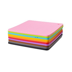 ingrosso 15 disco-60G Silicone Honeycomb Mat Colors Round Silicone Placemat Disc Mat Bowl Pot Pot Mat HWD4991