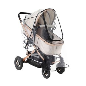 Wholesale umbrella trolley baby resale online - Universal Stroller Rain Cover Trolley Umbrella Raincoat Side Ventilation Weather Shield Baby Car Accessories