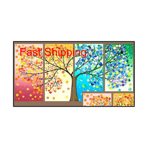 Wholesale paintings canvas abstract trees for sale - Group buy abstract Life Tree Oil Painting On Canvas Beautiful Life Handmade High Quality Home Office Hotel qylYwo bdenet