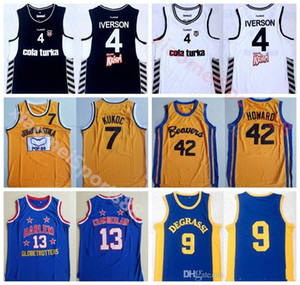 42 pelicula al por mayor-College Movie Basketball Allen Iverson Jersey Besiktas Cola Turka Scott Howard Jimmy Brooks Wilt Chamberlain Toni Kukoc