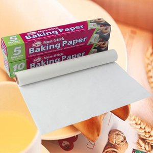 Wholesale parchment papers for sale - Group buy 5M M Baking Paper Barbecue Double sided Silicone Oil Paper Parchment Rectangle Oven Oil Baking Sheets Bakery BBQ