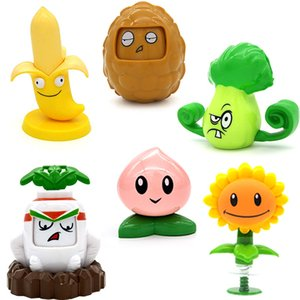 Wholesale plants zombie resale online - Plants Vs Zombies Toys Banana Nut Can Be Launched Kids Toy Figure Anime Cartoon Character Action Figures Garage Kit Figma Doll L0226