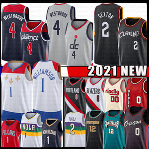 Wholesale drier balls for sale - Group buy Collin Sexton Russell Westbrook Ja Morant Zion Williamson Damian Lillard Basketball Jersey Lonzo Ball Carmelo Anthony