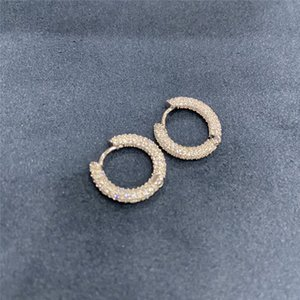Wholesale gold hoop earings for sale - Group buy Luxury Designer Earrings Hip Hop Jewelry Iced Out Earring Men Women Diamond Stud Earings Rapper Hiphop Charms Gold Silver Earing Gift T2
