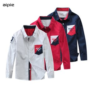 Wholesale new design kids shirts resale online - Hot Sale Children Boys Shirts New Fashion Design European and American style Kids Cotton Shirts Soft comfortable and breathable