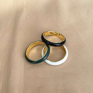 Wholesale inlay jewelry china for sale - Group buy Ring round three dimensional exquisite enamel inlaid simple gold plated Jewelry