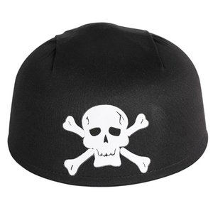 Wholesale pirate head for sale - Group buy Black Caribbean Pirate Hat White Skull Halloween Crossbone Captain Head Accessories Cosplay Party Dress Unisex Adult Hats Cap