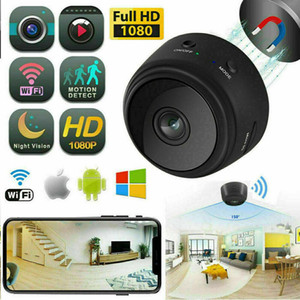nacht spion kameras großhandel-A9 P Full HD Mini Spion Video Cam Wifi IP Wireless Security Hidden Kameras Indoor Home Überwachung Nachtsicht Kleine Camcorder MQ30
