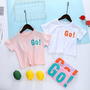 Wholesale baby girl shirt patterns resale online - Boys Girls T Shirts Short Sleeve Childrens Tshirt Baby Tops GO Pattern O Neck Fashion Cartoon Casual Girl T Shirts Children