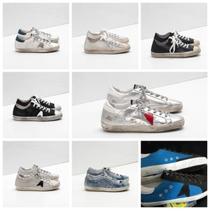Wholesale plastic outdoor flooring for sale - Group buy Italian luxury gold sequins classic white distressed dirty shoes goose sneakers Superstar men s and women s sports outdoor shoes plus box