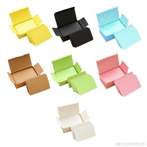 Wholesale small memo pads resale online - 100 Memory Cards Blank DIY Graffiti Green Word Cards Net Small Memo Pad Blocks Memorandum Note Blank Word Cards D08 Dropship
