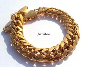 Wholesale jh gold resale online - JH Gold Solid Nugget Yellow Hypotenuse Not Real Heavy New Mens Money mm kt Hge Gold Not Bracelet g Sqcqe Bdefashion