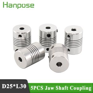 Wholesale motor shaft coupler for sale - Group buy 5pcs ID mm D25 L30 Aluminium CNC Stepper Motor Flexible Shaft Coupling Coupler Encoders Engraving